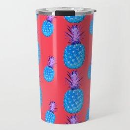 Tropical Punch, Pineapple Pattern Travel Mug