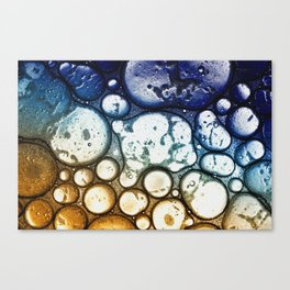 Oil on Water Bubble Drops Abstract I Canvas Print