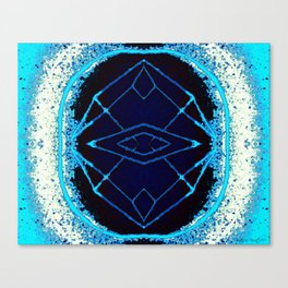 Beatnik Emblem (Blue Version) Canvas Print