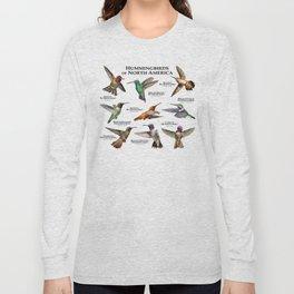 Hummingbirds of North America Long Sleeve T-shirt