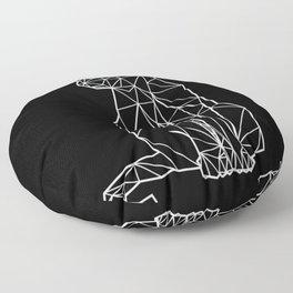 modern black geometric architectural cat Floor Pillow