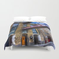 victorian Duvet Covers featuring Victorian London by David Pyatt