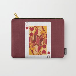 Queen of Hearts Playing Card Carry-All Pouch
