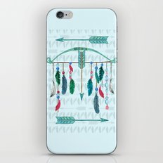 Feathers, Bow, and Arrows in Watercolor iPhone & iPod Skin