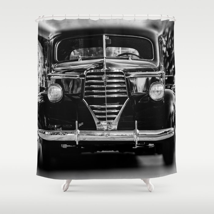 American Classic Car Shower Curtain By Aguaviva