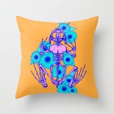 Frog Skeleton Throw Pillow