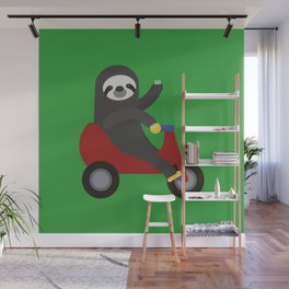Sloth on Tricycle Wall Mural