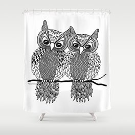 Owls in love Shower Curtain