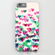 Heart Connections II - watercolor painting (color variation) iPhone 6s Slim Case
