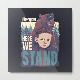 We Stand Metal Print
