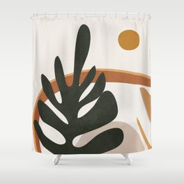 Abstract Plant Life I Shower Curtain