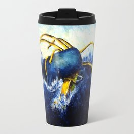 Whale vs Colossal Squid Travel Mug