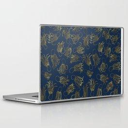 Gold Squid (Indigo) Laptop & iPad Skin