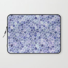 Pale Blue Cobbled Patchwork Irregular Pattern Laptop Sleeve