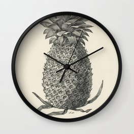 Vintage  of charlotte rothschild pineapple digitally Wall Clock