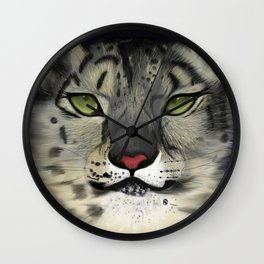 The Eyes Have It - Snow Leopard Wall Clock