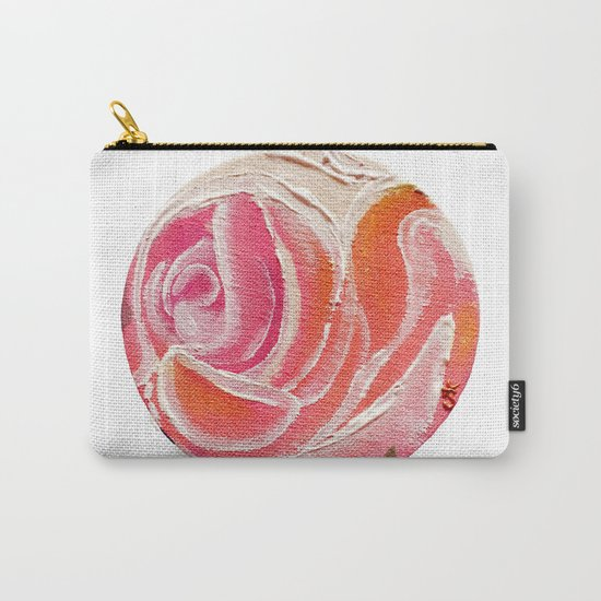 Sunday Plum Roses Carry-All Pouch