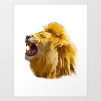 simba Art Prints featuring Hakuna Simba by Paperback
