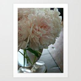 Pink Peonies in Vase Art Print