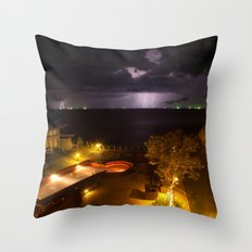 Storm on my paradise Throw Pillow