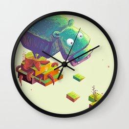 Lil Cube Hippo Wall Clock