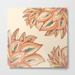 Diamond Agave leaves in my garden_hand painted watercolor Metal Print