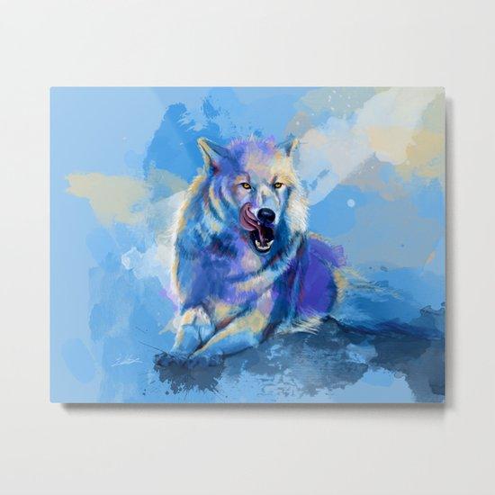 Awaken the Wolf Metal Print