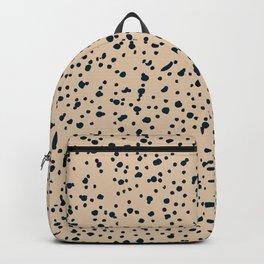 beige dalmatian print Backpack