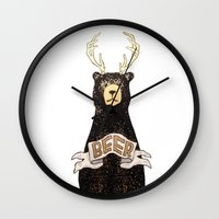 beer Wall Clocks featuring Beer by Cale LeRoy