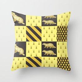 House of the Badger Throw Pillow