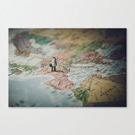 Travel addict Canvas Print