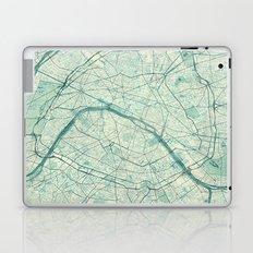 Paris Map Blue Vintage Laptop & iPad Skin