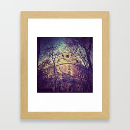 The city and the trees Framed Art Print