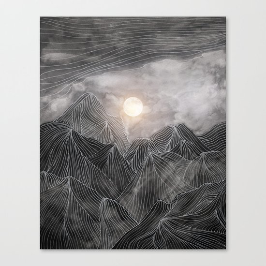 Lines in the mountains VIII Canvas Print