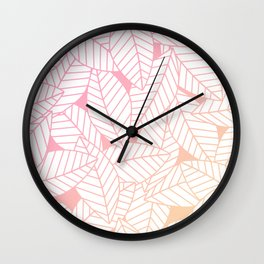 Leaves in Sunset Wall Clock