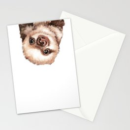 Baby Sloth Stationery Cards