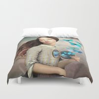 christian Duvet Covers featuring Set Your Heart Free by Christian Schloe