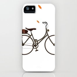 Cycling cartoon poster iPhone Case