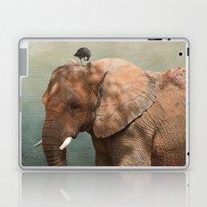 Brotherly- elephant and owl Laptop & iPad Skin