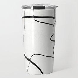 Abstract line art 6 Travel Mug