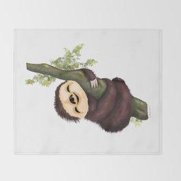 Sloth 2 Throw Blanket