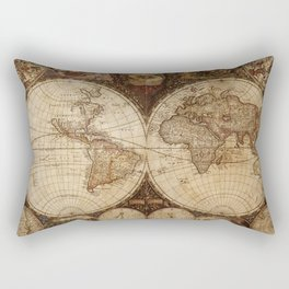 Vintage Map of the World Rectangular Pillow