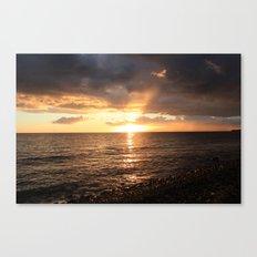Good night sun! Canvas Print