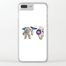 Galaxy baymax Clear iPhone Case