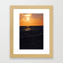 sunset coals Framed Art Print