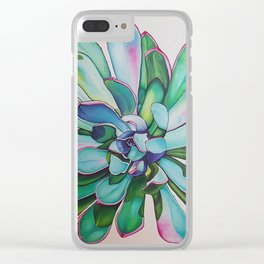 Cactus with Pink tipped leaves Clear iPhone Case