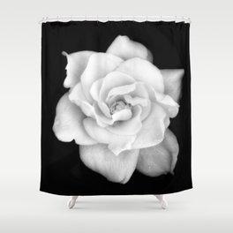 Gardenia Black and White Shower Curtain