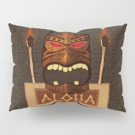 Vintage Wood Tiki Aloha Pillow Sham