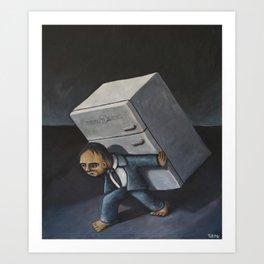 Refrigerator Crucifixion Art Print