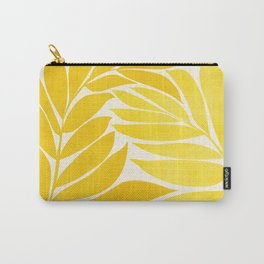 Mid Mod Vines - Yellow Carry-All Pouch